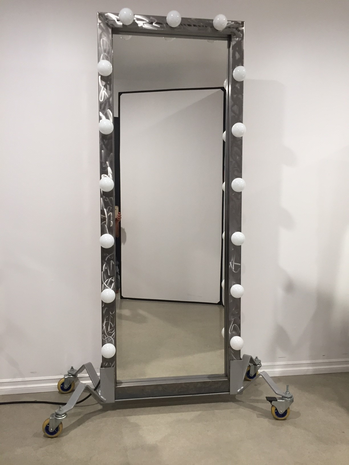 Premiere lighted full-length mirror