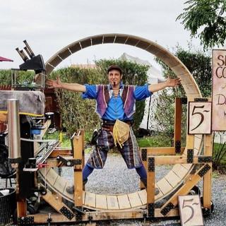 Vitruvian Man da Vinci at PA Renn Faire