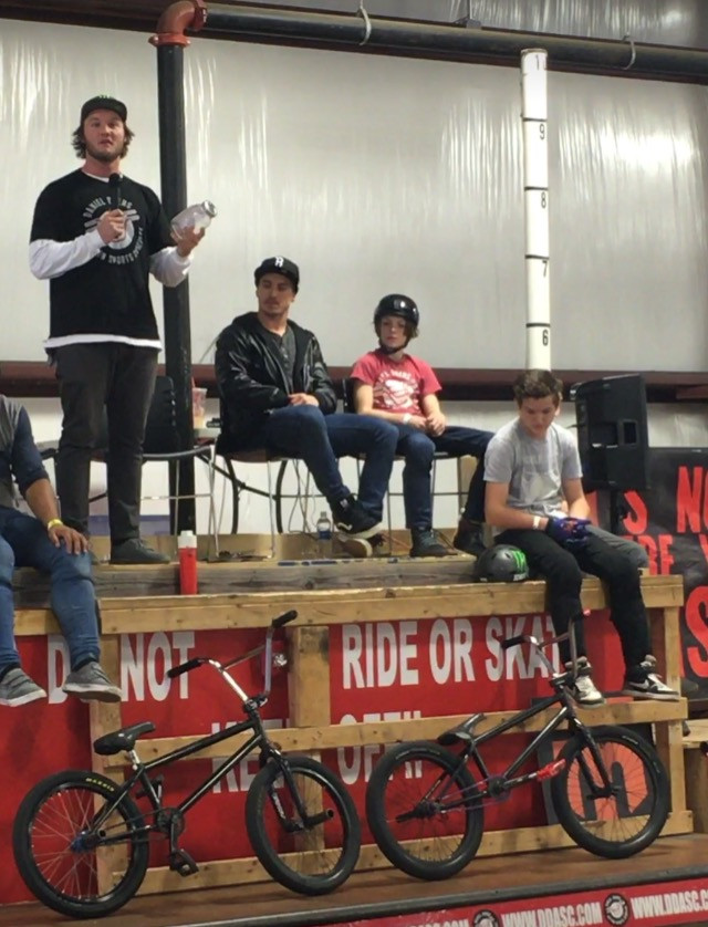 Brian announcing at the 1st BMX Complex AM 2016