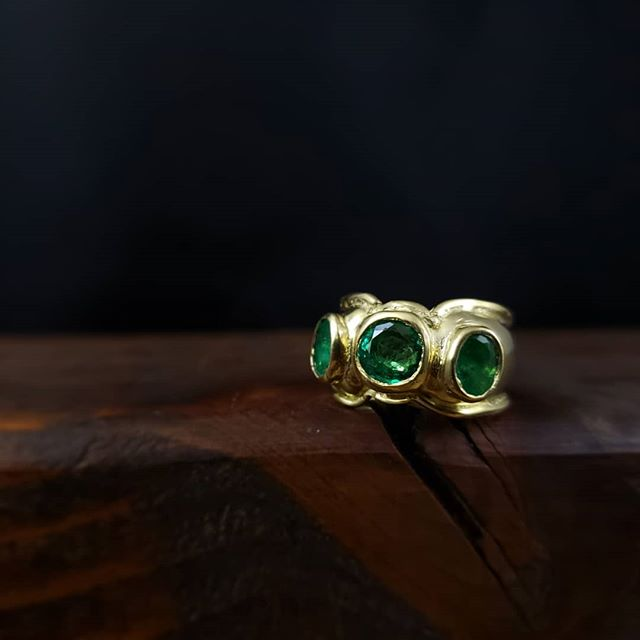 Emeralds in 18k gold