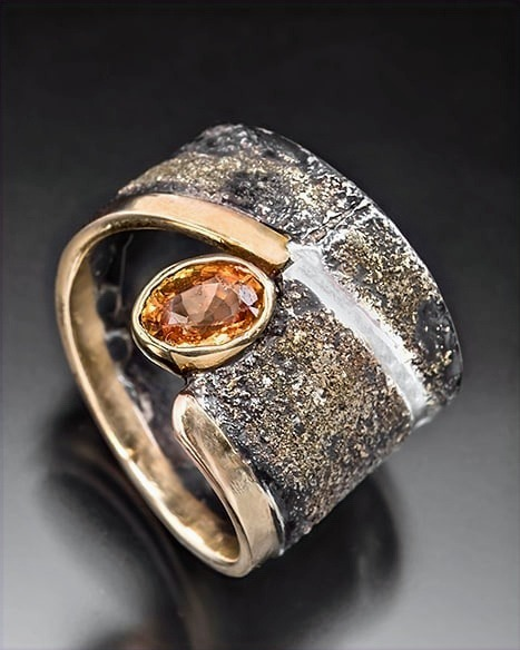 mixed metal and mandarin garnet