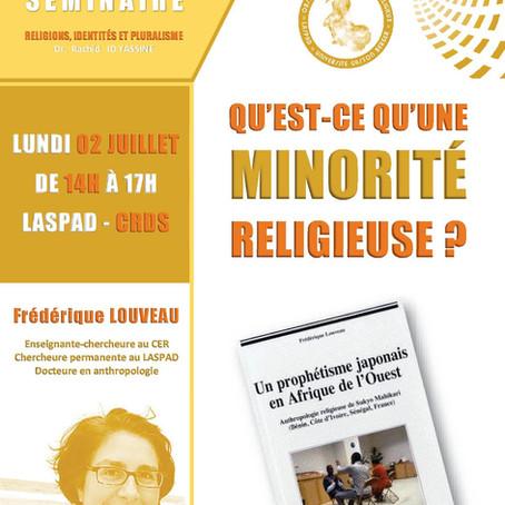 QU'EST-CE QU'UNE MINORITÉ RELIGIEUSE ?