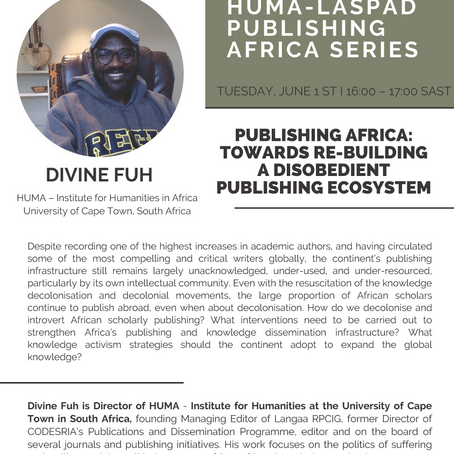 Publishing Africa: Towards Re-Building a Disobedient Publishing Ecosystem