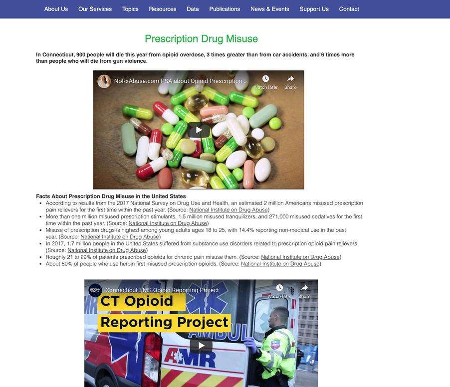 New Topics Page - Prescription Drug Abuse