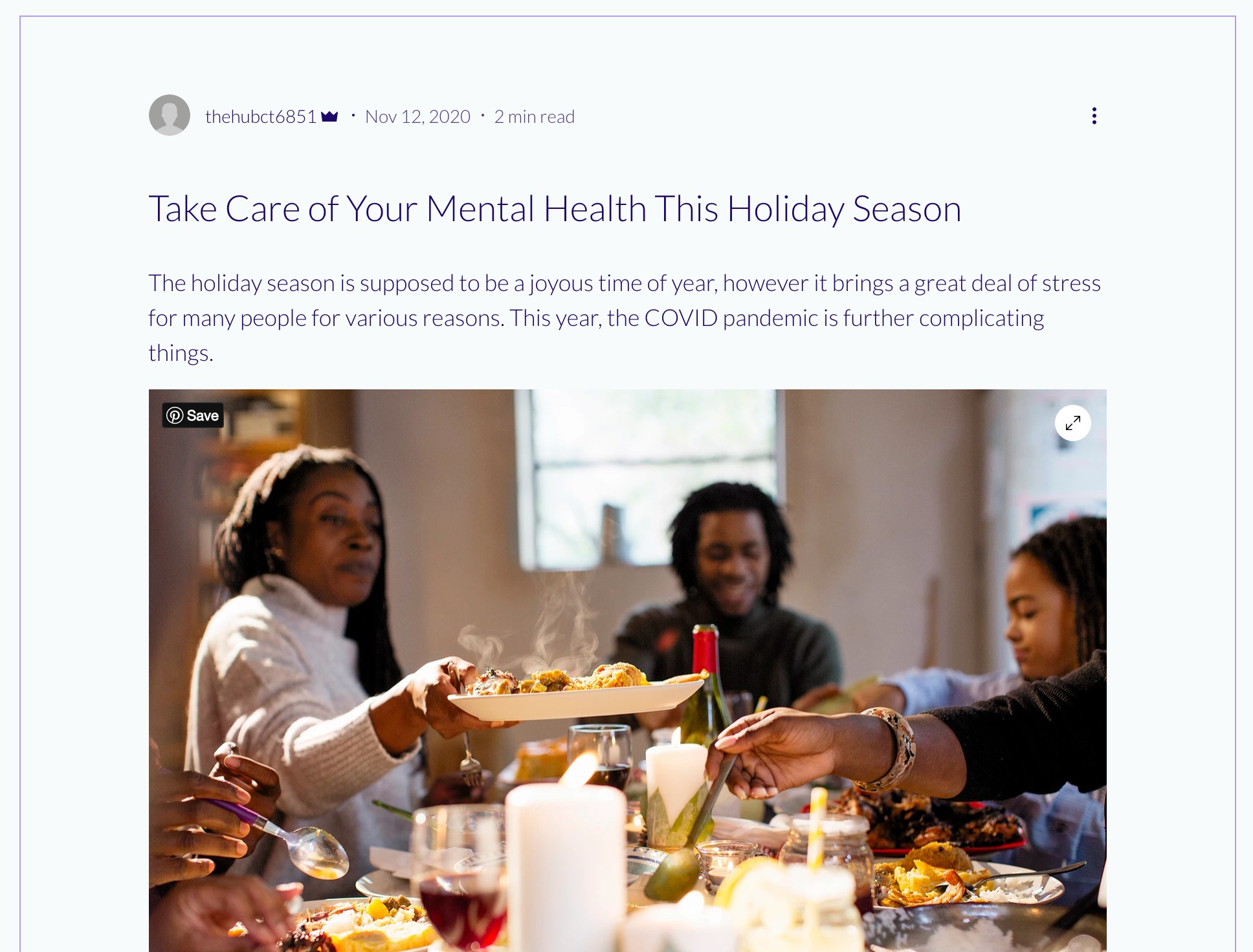 Holidays During COVID Blog