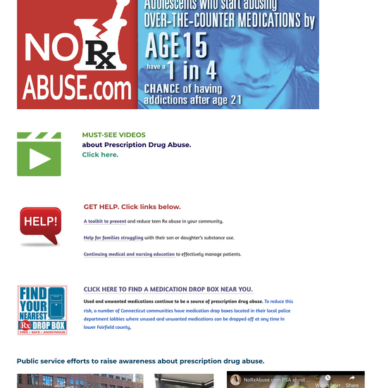 Former Opioid Abuse Prevention Page
