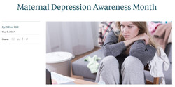 Maternal Depression Awareness Month