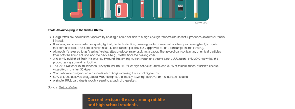 New Topics Page - Vaping