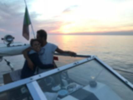 Cinque terre sunset boat