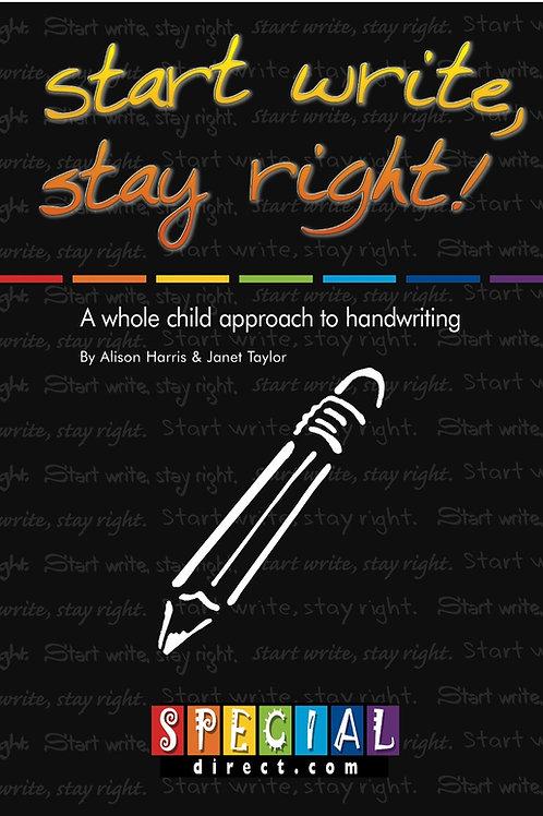 Start Write, Stay Right! Handwriting Guidance Book