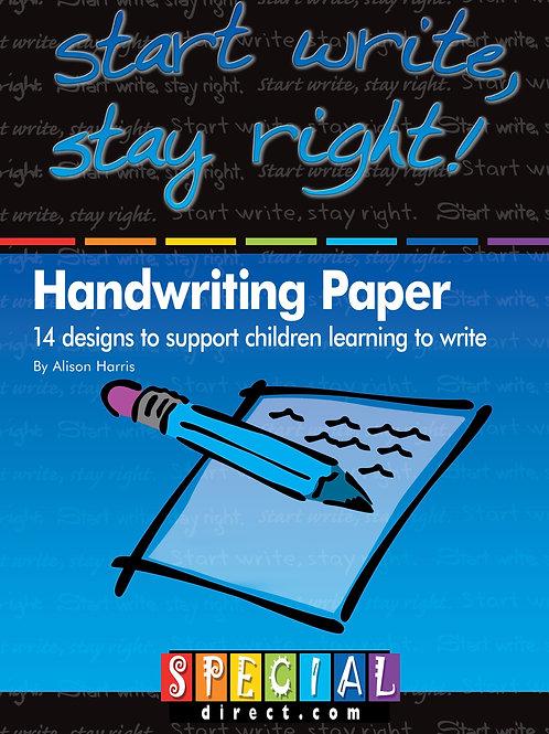Start Write, Stay Right! Handwriting Paper