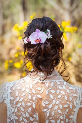 Robe de mariée avev dos en dentelle feuillages créatrice Anne-Laure Neves Bordeaux