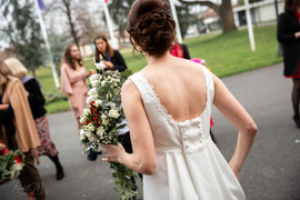 Robe de mariée sur mesure dos danseuse Anne-Laure Neves