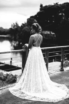 Robe de mariée unique et sur mesure réalisée par Anne-Laure Neves