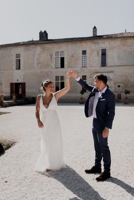 Robe de mariée légère et unique Anne-Laure Neves
