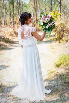 Robe de mariée sur mesure création unique Anne-Laure Neves Bordeaux