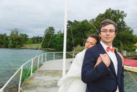 Anne-Laure Neves a réalisé ce noeud papillon personnalisé pour le mariage de Manuel