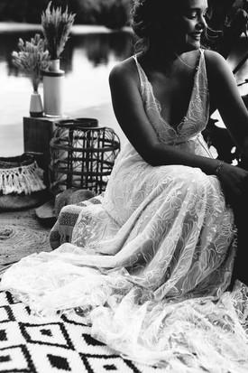 Robe en dentelle de la créatrice Anne-Laure Neves à Bordeaux
