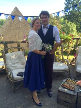 Anne-Laure Neves robe de mariée sur mesure, mariage civil, jupe midi, Bordeaux