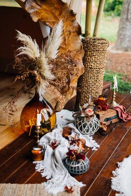 Décoration Gypsy pour un mariage heureux en Gironde
