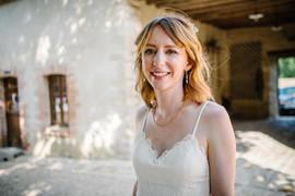 Robe de mariée sur mesure, création à Bordeaux, décolleté V