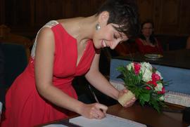 Robe de mariage civil, créée sur mesure par Anne-Laure Neves