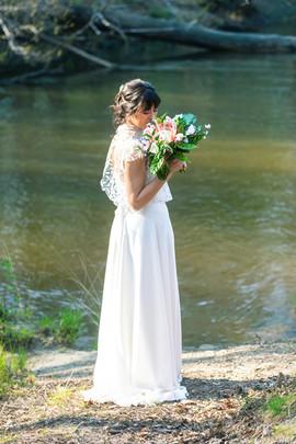 Robe de mariée sur mesure Anne-Laure Neves en Aquitaine