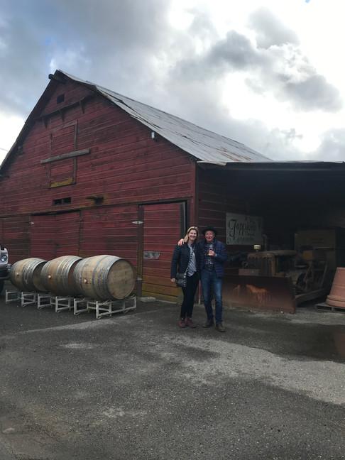 Katja and Werner at Foppiano Vineyard