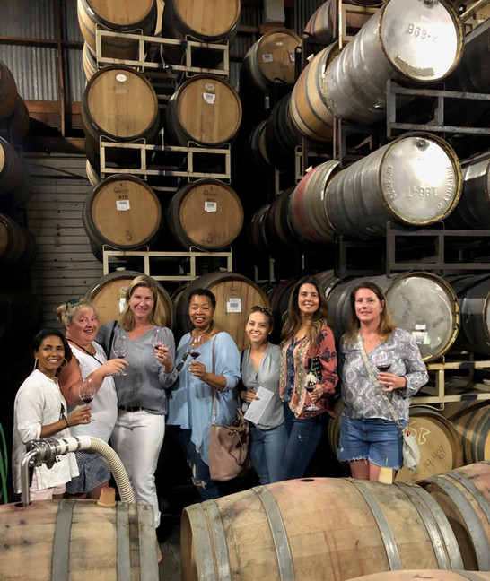 Ladies of the Round Table Barrel Tasting our Inaugural Cab