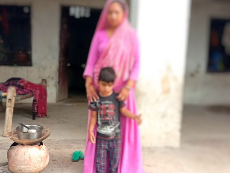 Suma and her family of 10 will not go hungry, Sarthala, Rajasthan.