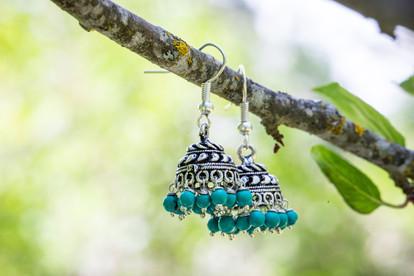 Turquoise Jhumka