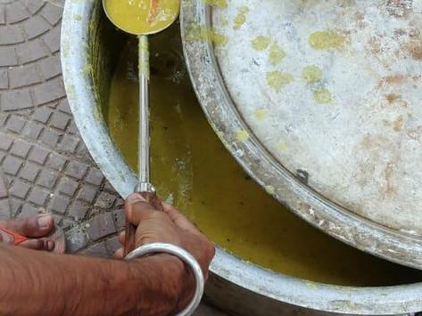 Feeding 35 families in Wani, Maharashtra.