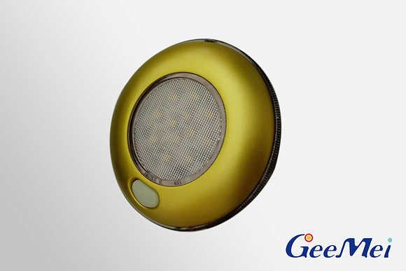 """RV 3"""" Qty 12 LED Ceiling Light Round Light with switch - Gold"""