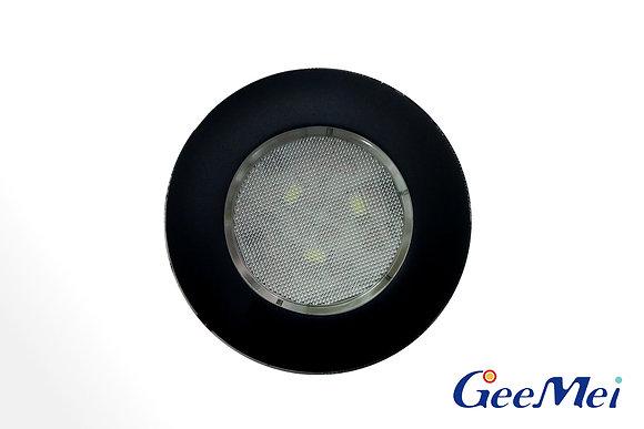 "RV 3"" Qty 3 LED Ceiling Light Round Light w/o switch - Matt black"