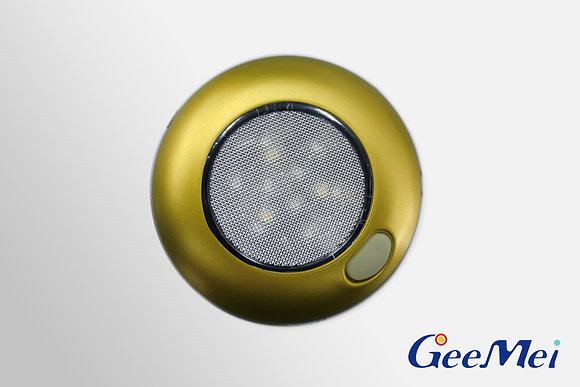 "RV 3"" Qty 3 LED Ceiling Light Dual color light - Gold"