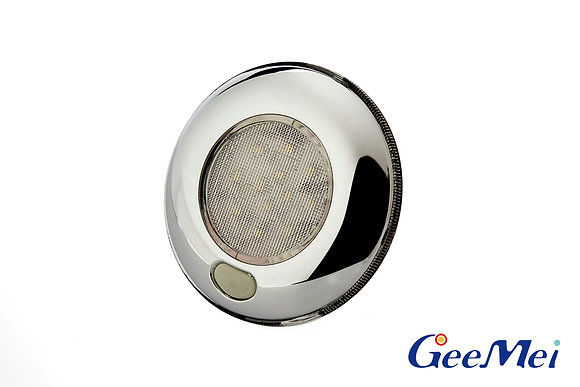 """RV 3"""" Qty 12 LED Ceiling Light Round Light with switch - Chrome"""
