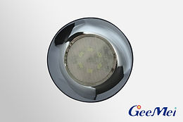 """RV 3"""" LED Ceiling Light Round Light w/o switch, 12V, 6 LEDs - Chrome"""