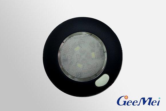 "RV 3"" Qty 3 LED Ceiling Light Round Light with switch - Matt black"