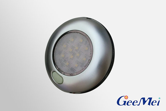 """RV 3"""" Qty 12 LED Ceiling Light Round Light with switch - Silver"""