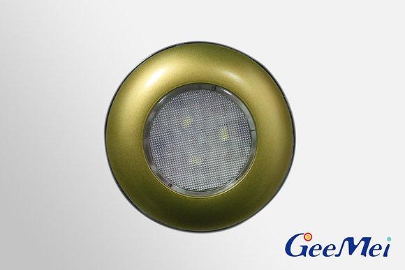 "RV 3"" Qty 3 LED Ceiling Light Round Light w/o switch - Gold"