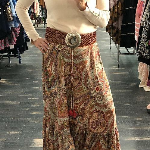 Falda estampada sedosa