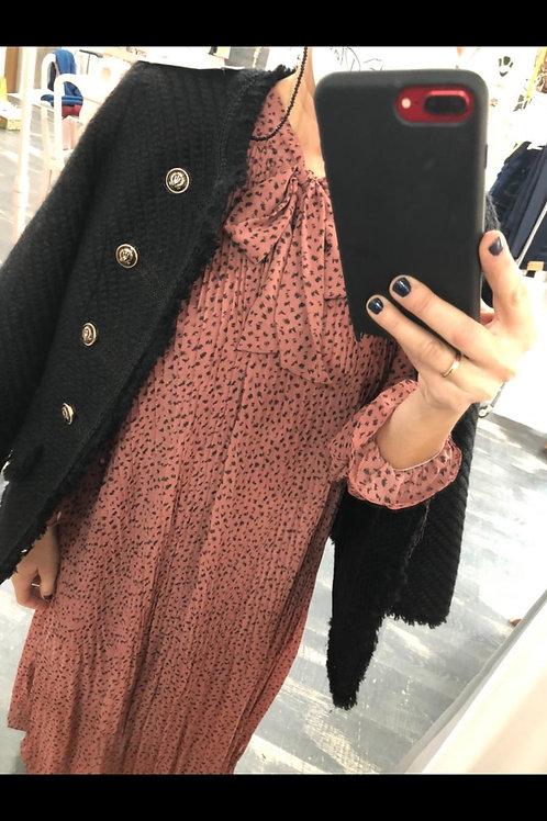 Vestido plisado talla única