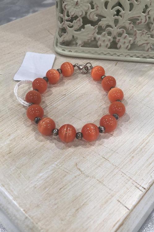 Pulsera ágata naranja