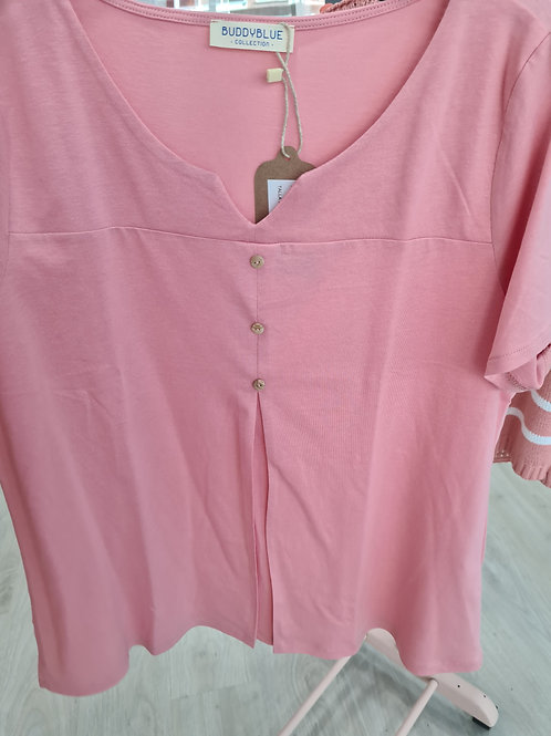 Camiseta botones corte laterales