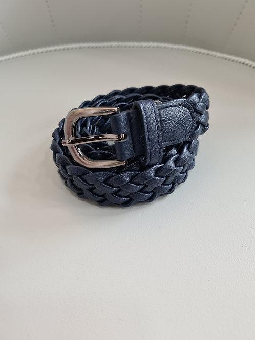 Cinturón  trenzado azul marino