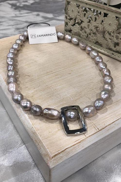 Colgante perla gris cultivada