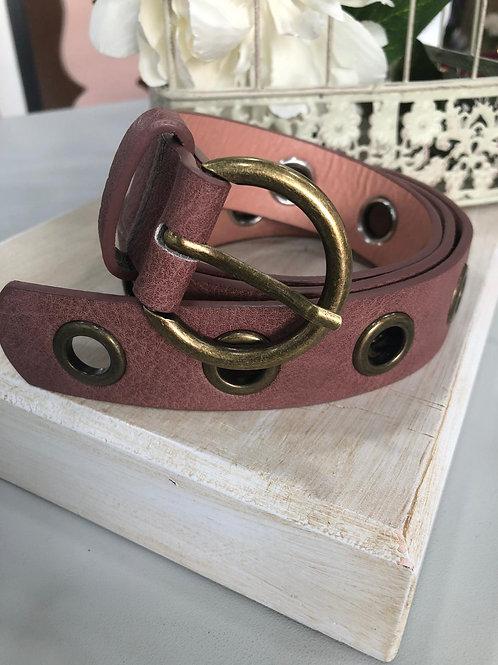 Cinturón polipiel hebilla