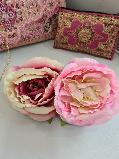 Cinturón flor fucsia y rosa