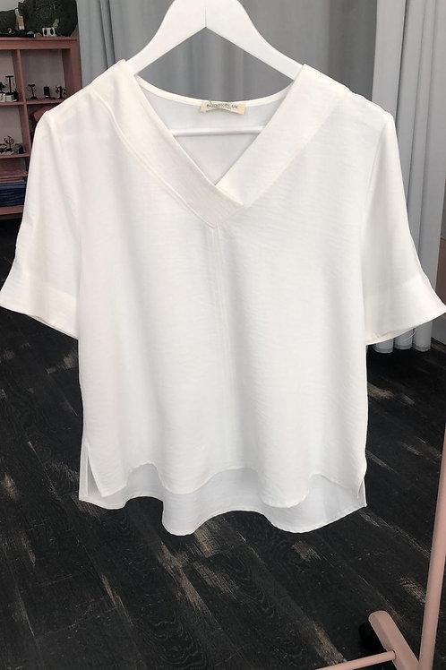 Blusa blanca manga