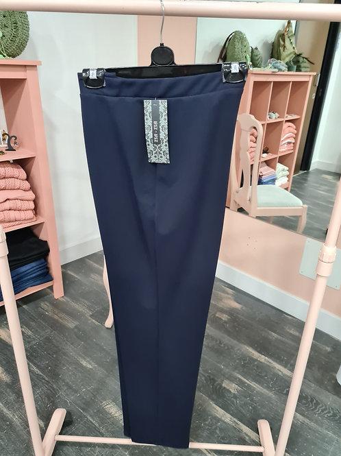 Pantalón  mujer vestir azul marino